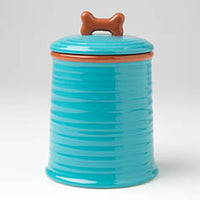 "Key West 7.5"" Embossed Jar, Aqua"