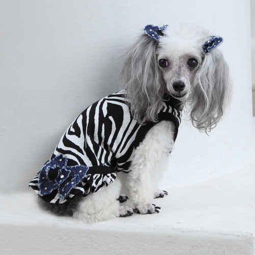The Diamond Designer Collection - Diva Zebra Dress Enhanced with Denim