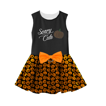 Halloween Harness Dress with matching leash, Scary Cute with Jack O Lanterns