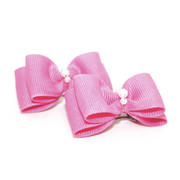 Hot Pink Dog Hair Bow Clips
