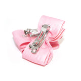 Light Pink Dog Hair Bow Cips