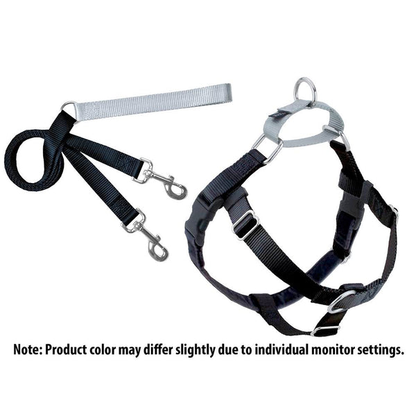 Black Freedom No-Pull Dog Harness w/ Leash
