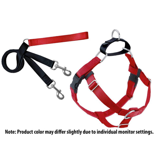 Red Freedom No-Pull Dog Harness w/ Leash