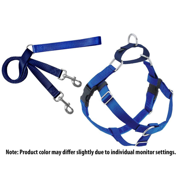Royal Blue Freedom No-Pull Dog Harness w/ Leash