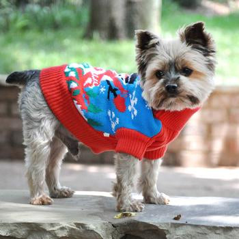 Ugly Snowman Christmas Holiday Dog Sweater