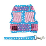 Cool Mesh Dog Harness Under the Sea Collection - Pink & Blue Flip Flop