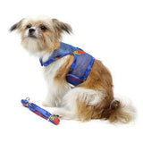 Cool Mesh Dog Harness with Leash - Ukuleles and Surfboards
