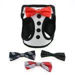 American River Choke Free Tuxedo Harness with 4 Interchangeable Bows