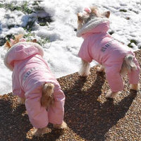 Pink Dog Snow Suit