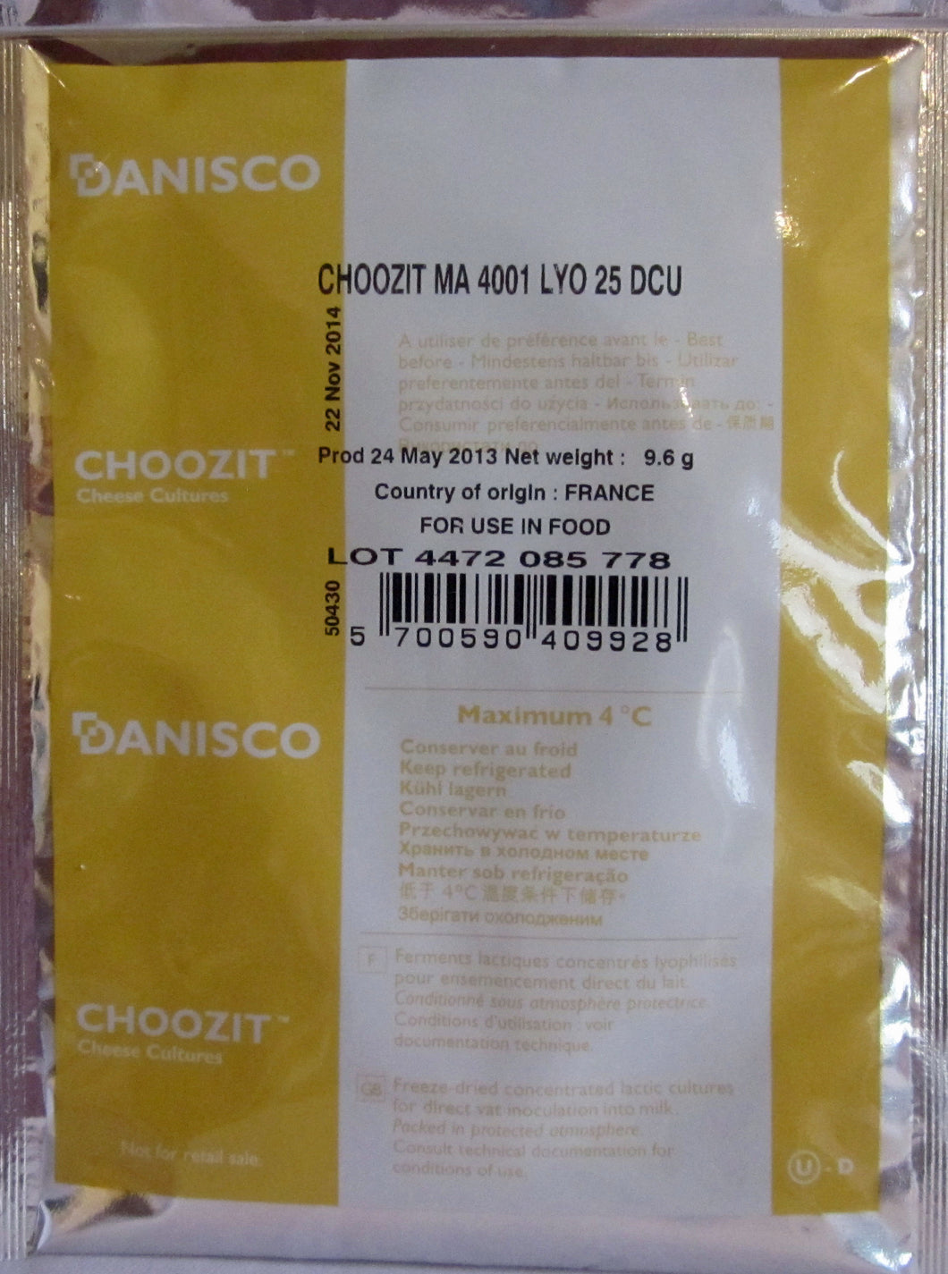 Danisco CHOOZIT MA4001 25 DCU