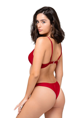 Mika Burgundy Bottom