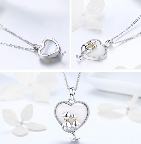 Couple Cat Necklace | Lovely and Adorable