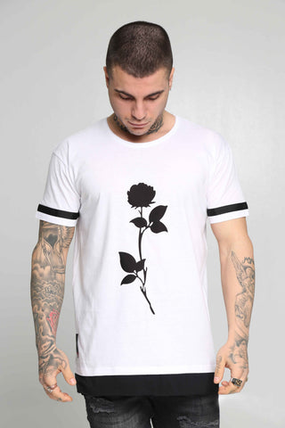 Crossover T-Shirt Rose (White)