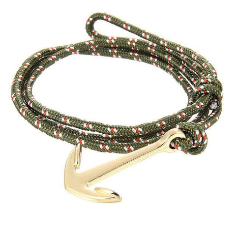 Crossover Gold Nautica Bracelet (Green/Red)