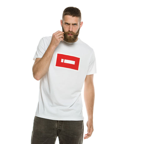 iClothing Longline Red Logo T-Shirt (White)