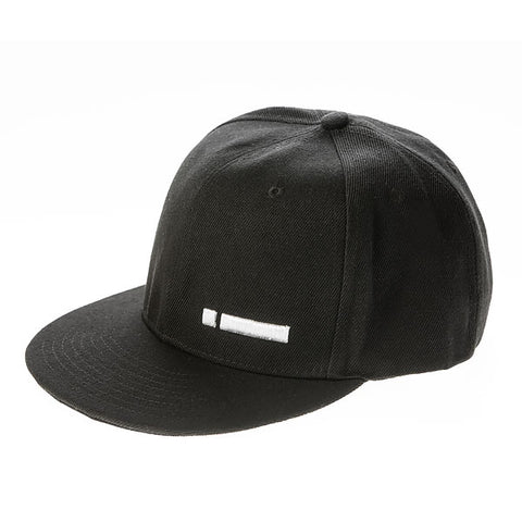 iClothing White Logo Snapback Cap Hat (Black)