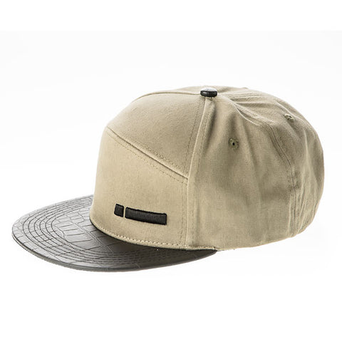 iClothing Khaki Soft Leather Cap Hat (Brown)