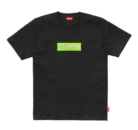 Supreme Green Fluorescence T-Shirt (Black)