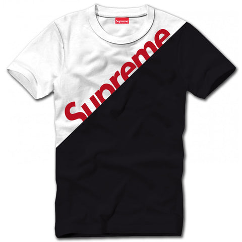 Supreme White BiColor T-Shirt (Black)