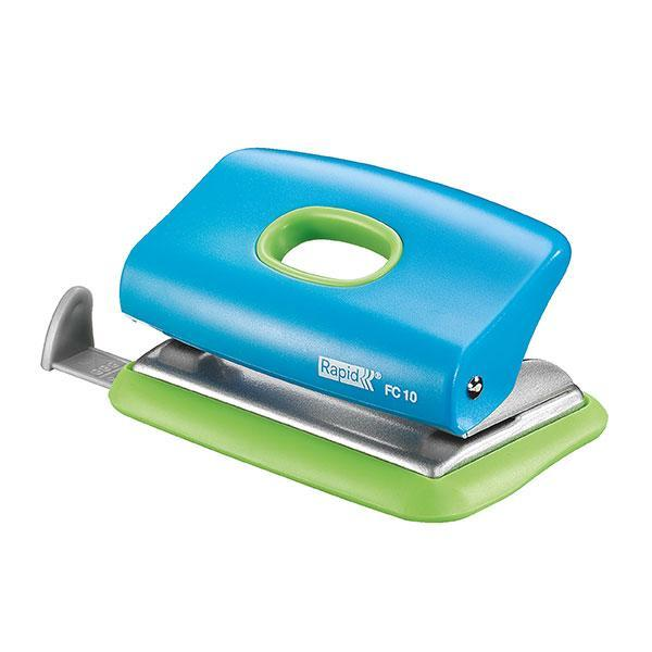 ACCO 10 Sheets Rapid 2 Hole Paper Punch - Blue/Green