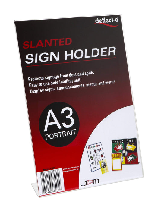 ACCO A3 Menu / Sign Holder Slanted Portrait