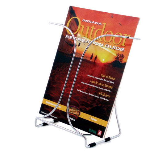 ACCO A4 Brochure Holder Single Pocket Chrome Wire