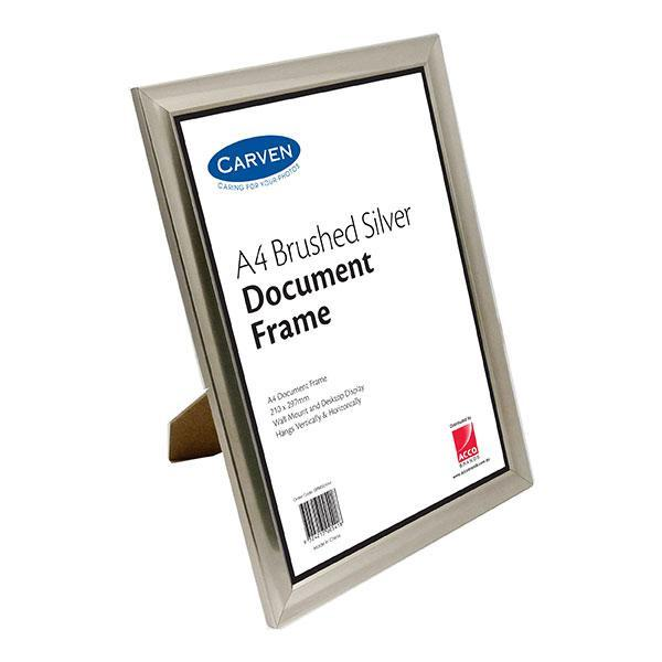 ACCO A4 Document Frame Silver