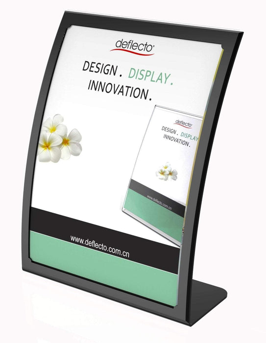 ACCO A4 Menu / Sign Holder Curved Front - Black / White