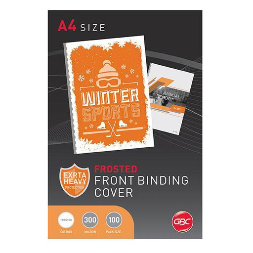 ACCO A4 Polypropylene Frosted Binding Cover 300 Micron x 100