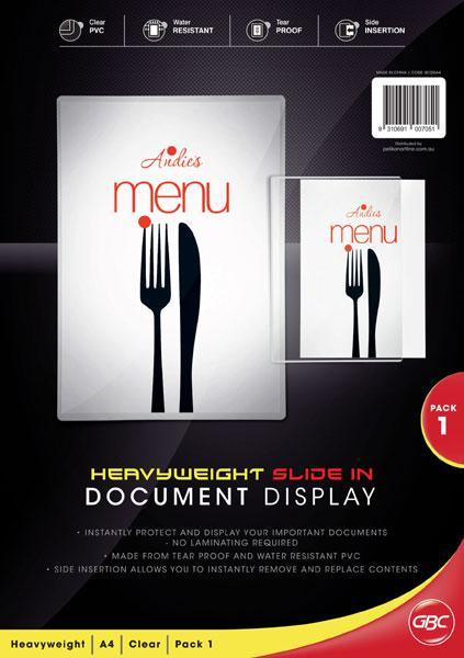 ACCO A4 Slide-In Document / Menu Holder