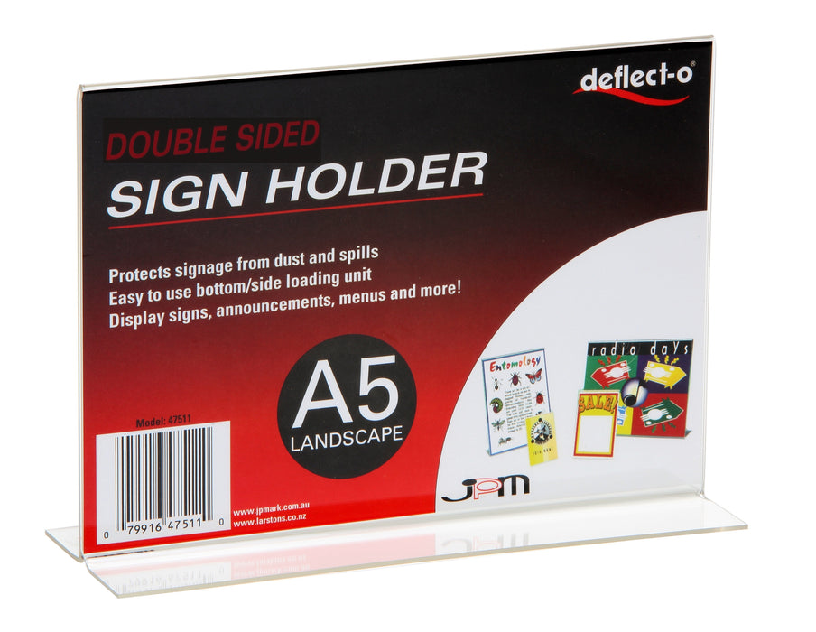 ACCO A5 Menu / Sign Holder Double Sided Landscape
