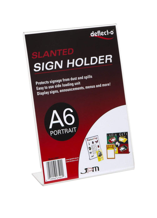 ACCO A6 Menu / Sign Holder Slanted Portrait