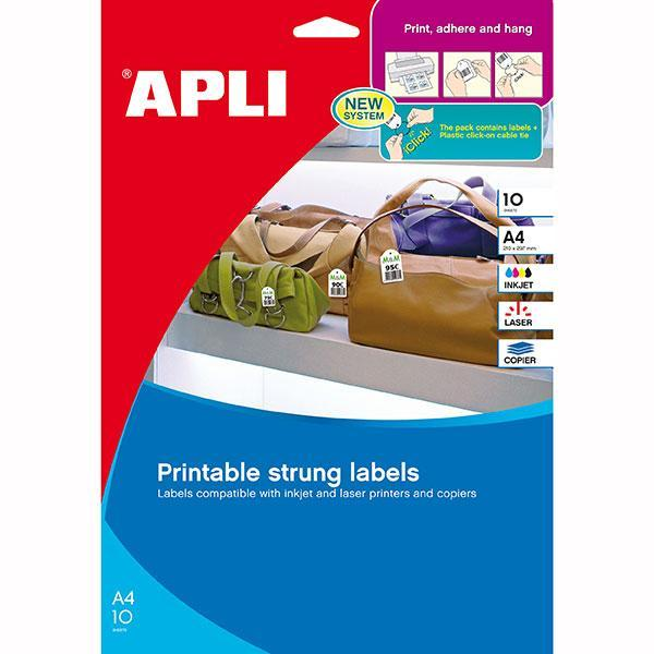 ACCO APLI Printable Tags 28x43mm