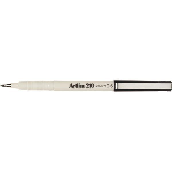 ACCO Artline 210 Series Fineliner Pen 0.6mm - Black