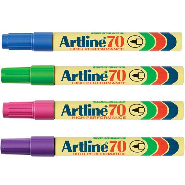 ACCO Artline 70 Bright Colours Permanent Marker Bullet Tip 12's Pack