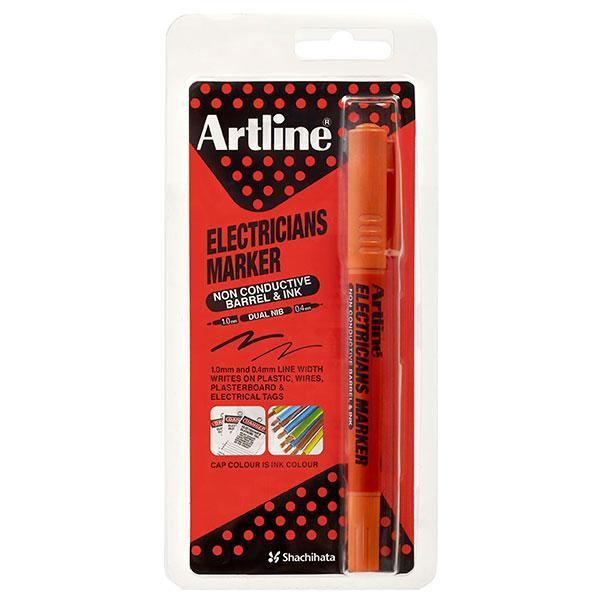 ACCO Artline Electricians Permanent Marker Bullet Tip Orange