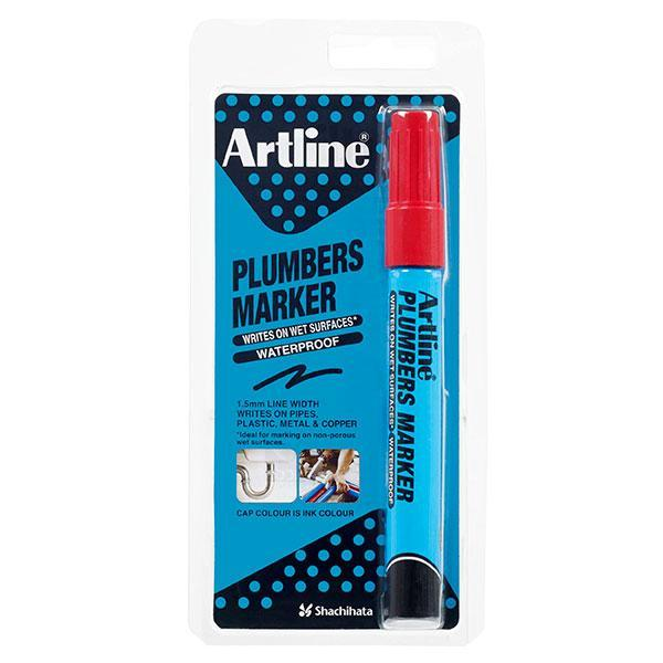 ACCO Artline Plumbers Permanent Marker Bullet Tip Red