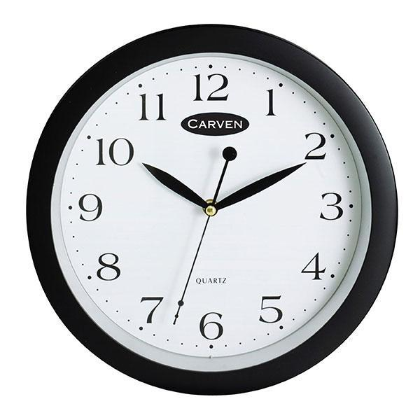 ACCO Carven Quartz Wall Clock 250mm Black