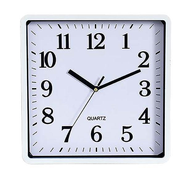 ACCO Carven Quartz Wall Clock 250mm White