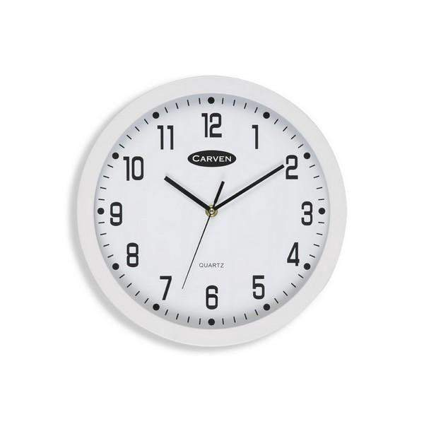 ACCO Carven Quartz Wall Clock 300mm White