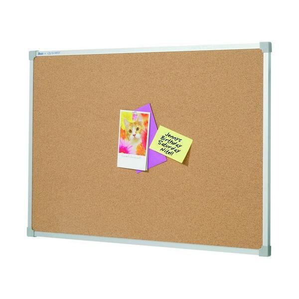 ACCO Corkboard With Aluminium Frame 1200 x 1200mm
