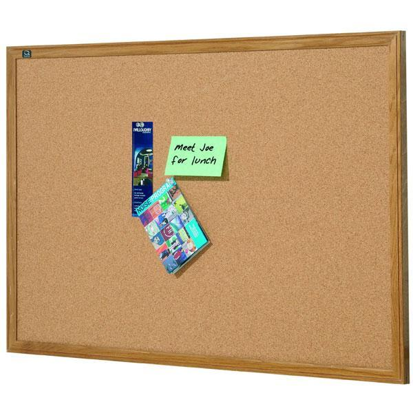 ACCO Corkboard With Oak Frame 1800 x 1200mm