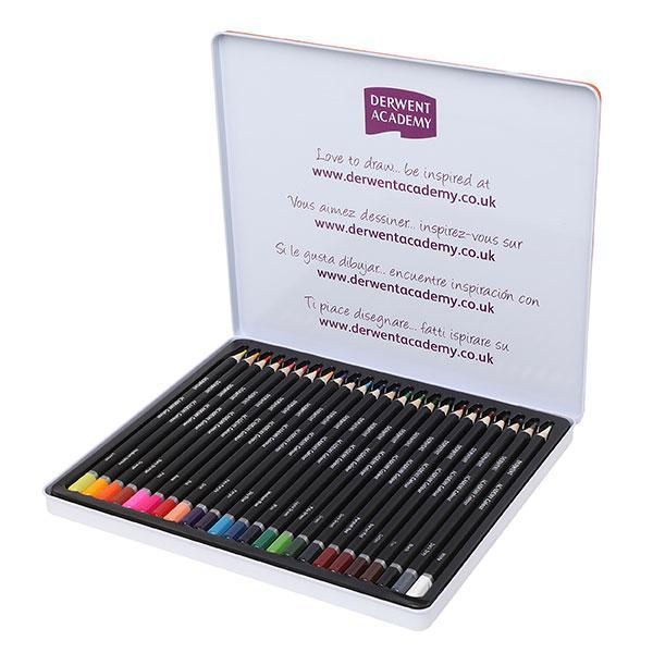 ACCO Derwent Academy Colour Pencil Full Height 24's