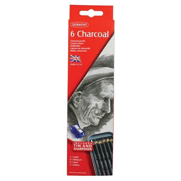 ACCO Derwent Charcoal Pencil 6's