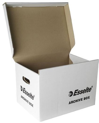 ACCO Esselte Archive Storage Box with Hinged Lid - White