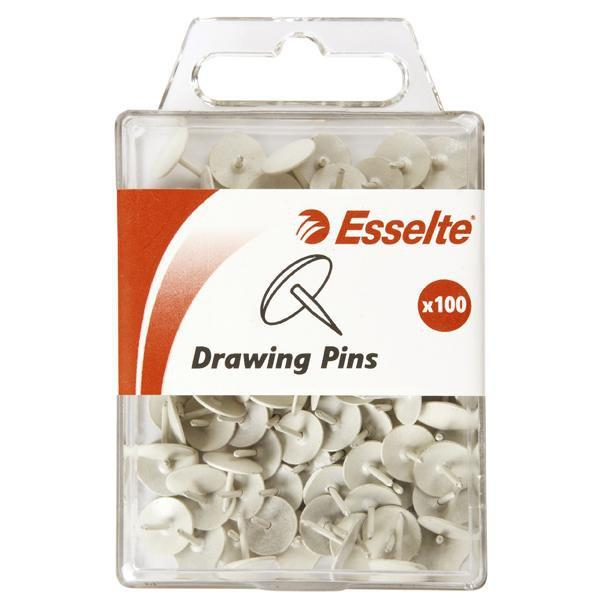 ACCO Esselte Drawing Pins White