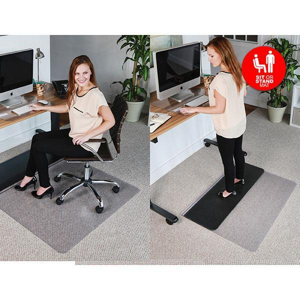 ACCO Jastek Sit or Stand Rectangular Chairmat 1140 x 1340mm