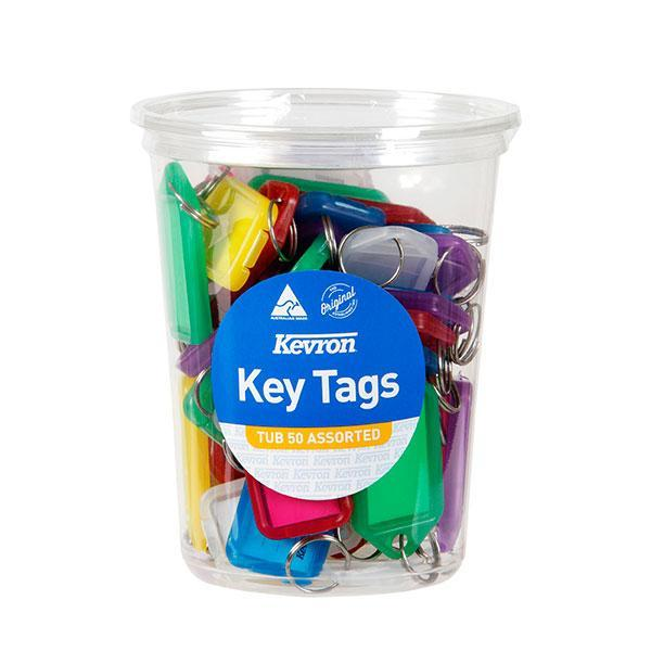 ACCO Kevron Key Tag Assorted 50's Pack