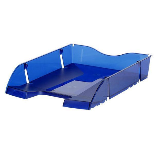 ACCO Maped Document / Letter Tray Front Loading Translucent Blue - Helit Series