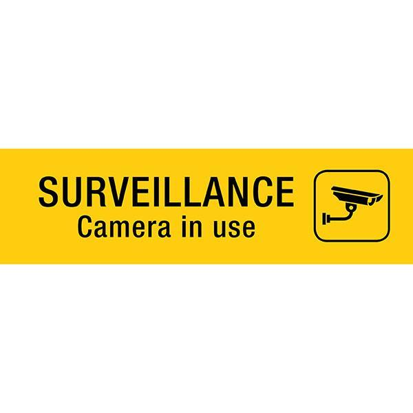 ACCO Self Adhesive Sign - SURVEILLANCE ....